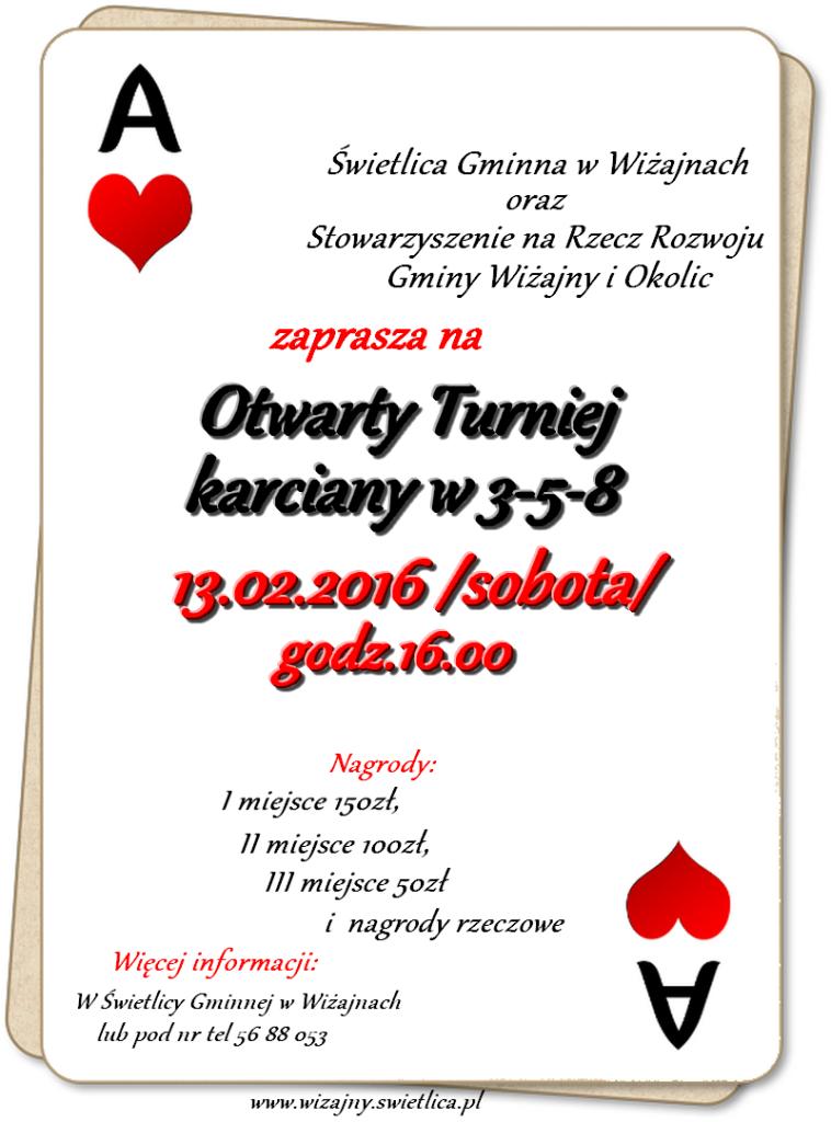turniej karciany 2016